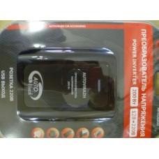 Преобразователь напряжения-инвертер с USB-портом 160-200 Вт ,сила тока 0,5 А