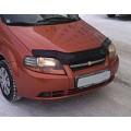 Дефлектор капота Chevrolet Aveo с 2003-2006(седан) с 2003-2008 (х/б) г.в.